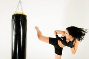 trening z boksarsko vrečo