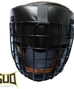 čelada za boks z zaščitno jekleno mrežico
